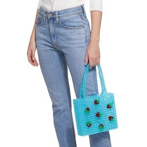 Susan Alexandra Bags - *NEW* Susan Alexandra Strawberry Blue Beaded Bag
